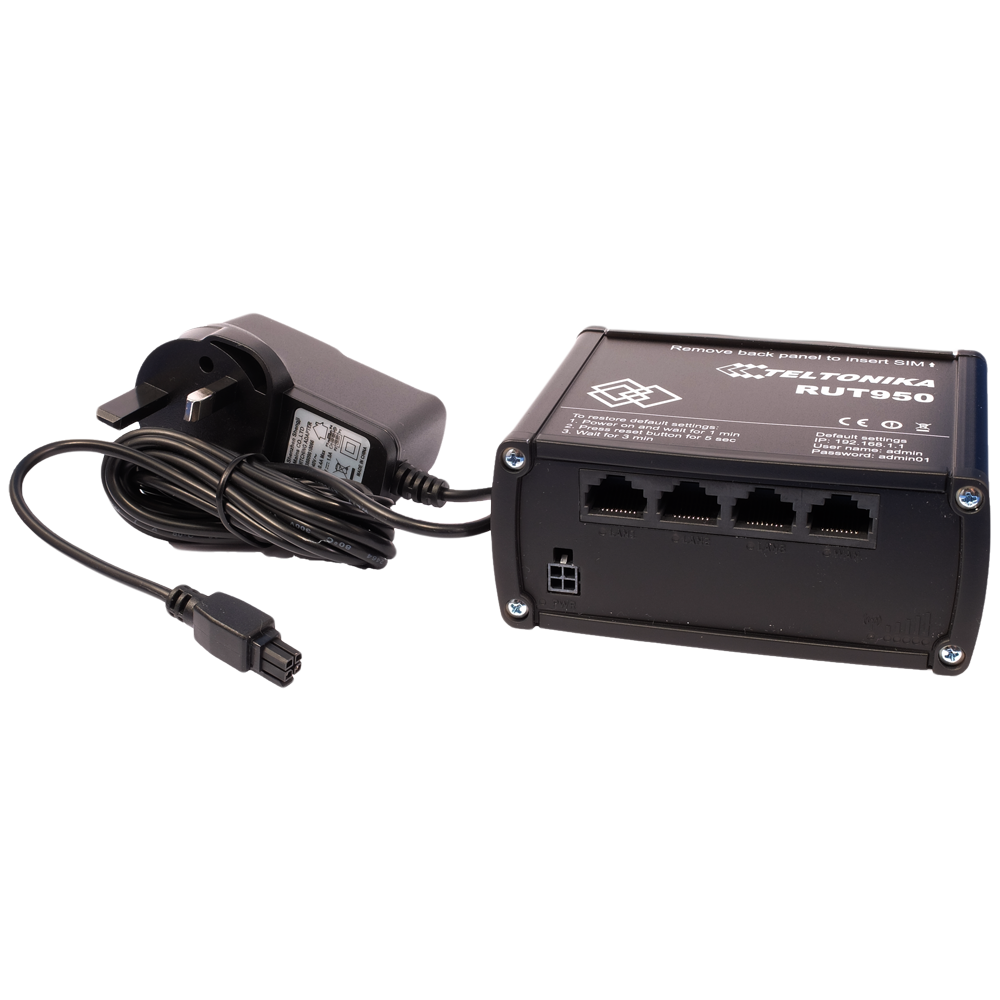Router & Power Supply (please note we are only able to supply a UK power supply with this product)