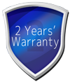 Now with 2 years' warranty!