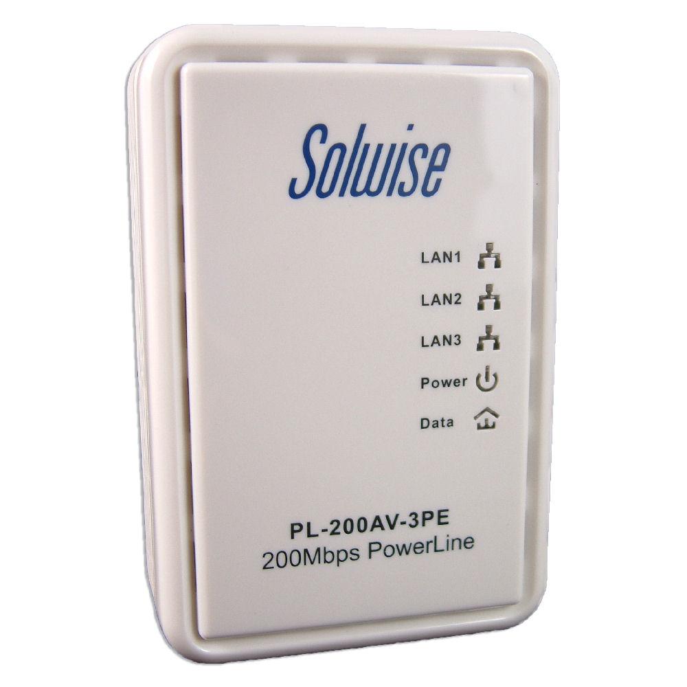 Solwise Homeplug Av 3 Ethernet Ports Net Pl 200av 3pe Ltd Wiring A House For Uk 3port