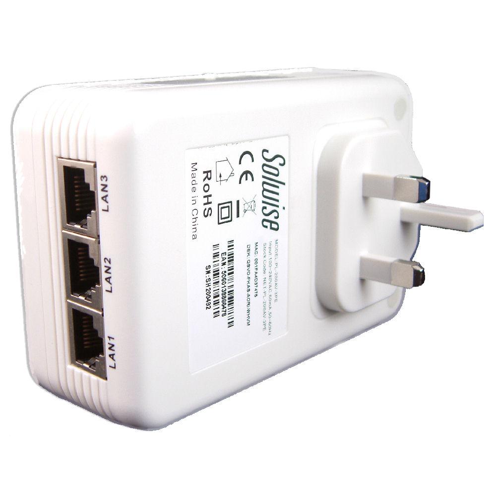 Solwise Homeplug Av 3 Ethernet Ports Net Pl 200av 3pe Ltd Wiring A House For Uk 3port View