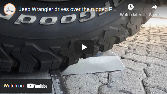 Jeep Wrangler drives over the rugged Poynting 5-in-1 PUCK Antenna