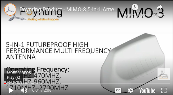 Poynting Product - MIMO-3 5-in-1 Antenna Product Overview