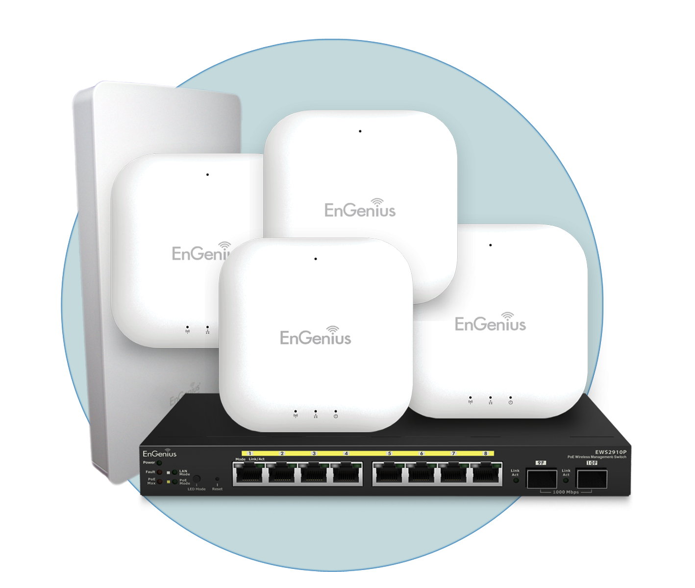 Engenius Neutron Solution - wide range of indoor and outdoor access points and management switches.
