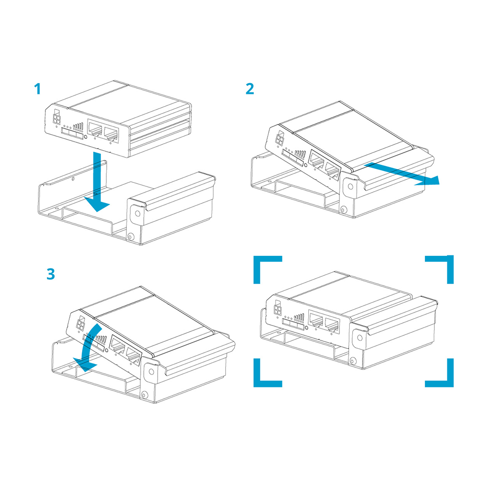 WI-A240S - installing router into clips