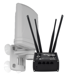 RUT router and XPOL antenna