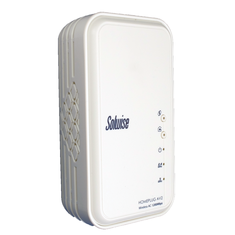 Solwise HomePlug AV2 1200Mbps adapter with MiMo 11b/g/n/ac WiFi - PL